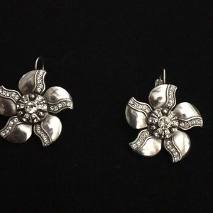 Brighton earrings silver with diamonds